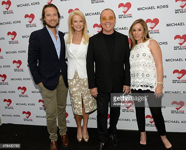 Lance LePere Blaine Trump Michael Kors and Melissa Rivers attend the celebration of God's Love We Deliver returning to Soho with a dedication of the...