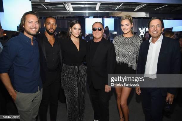 Lance LePere Justin Ervin Ashley Graham Michael Kors Kate Upton and John D Idol attend Michael Kors and Google Celebrate new MICHAEL KORS ACCESS...