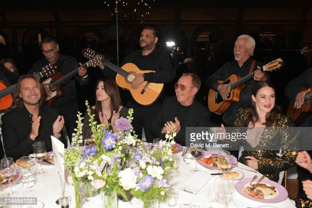 Lance LePere Monica Bellucci Michael Kors and Shailene Woodley attend the 10th Annual Filmmakers Dinner hosted by Charles Finch Edward Enninful and...