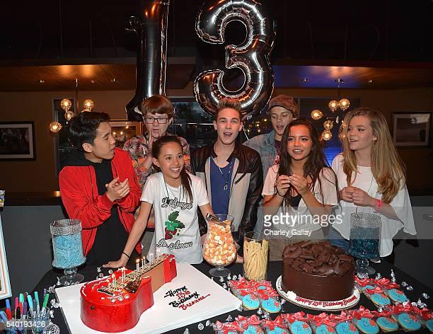 Lance Lim Breanna Yde Aidan Miner Ricardo Hurtado Jace Norman Isabela Moner and Jade Pettyjohn attend Breanna Yde's 13th Birthday Party at Lucky...