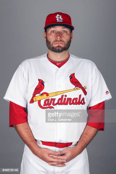 Lance Lynn of the St Louis Cardinals poses during Photo Day on Monday February 20 2017 at Roger Dean Stadium in Jupiter Florida