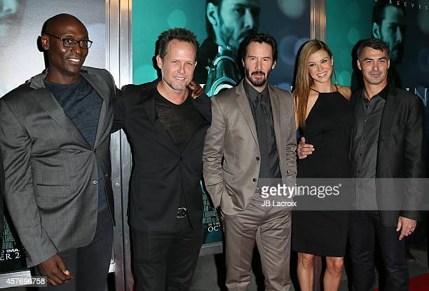 Lance Reddick Dean Winters Keanu Reeves Adrianne Palicki and Chad Stahelski attend Summit Entertainment's premiere of 'John Wick' at the ArcLight...