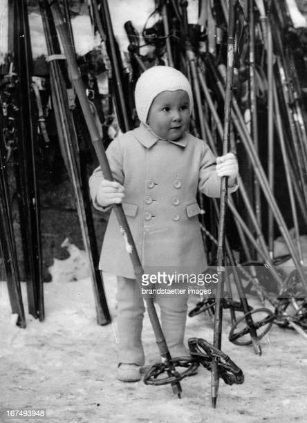 Lance ReventlowHaugwitz Son of Barbara Hutton married HaugwitzReventlow St Moritz Switzerland Photograph 1938 Lance HaugwitzReventlow Sohn von...