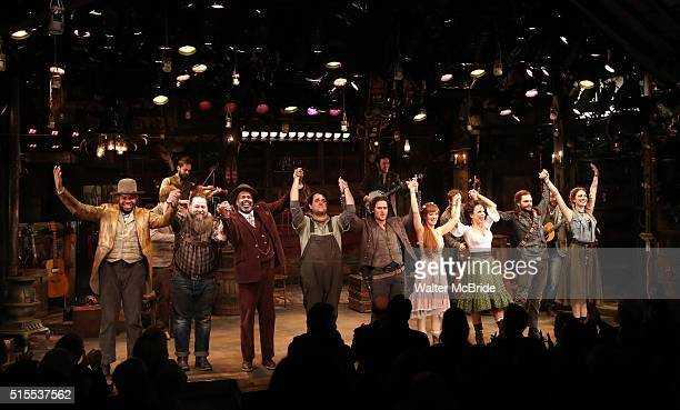 Lance Roberts, Evan Harrington, Devere Rogers, Greg Hildreth, Steven Pasquale, Ahna O'Reilly, Leslie Kritzer, Andrew Durand and Nadia Quinn during...