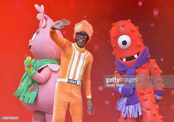Lance Rock performs at Yo Gabba Gabba Live at The Beacon Theatre on December 21 2013 in New York City