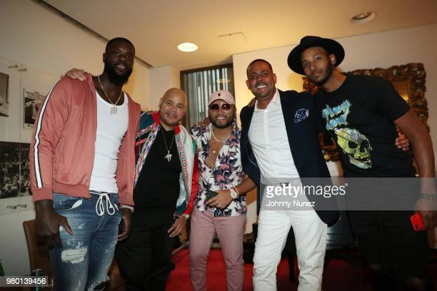 Lance Stephenson Fat Joe Alex Sensation James Cruz and Aaron Harper attend the Humanity Of Connection event at David Geffen Hall on June 20 2018 in...