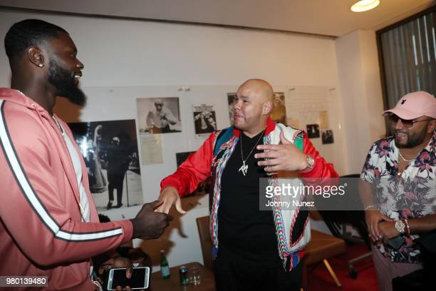 Lance Stephenson Fat Joe and Alex Sensation attend the Humanity Of Connection event at David Geffen Hall on June 20 2018 in New York City