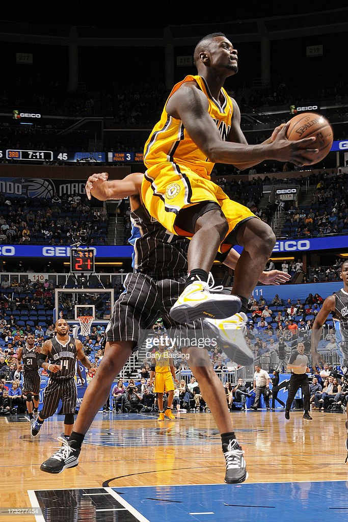 Lance Stephenson #1 of the Indiana Pacers shoots against the Orlando Magic during a game on March 8, 2013 at Amway Center in Orlando, Florida.