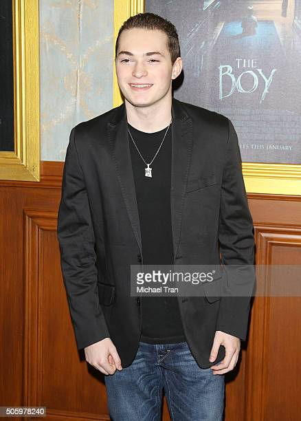 Lance Stewart arrives at the Los Angeles premiere of The Boy held at Cinemark Playa Vista on January 20 2016 in Los Angeles California