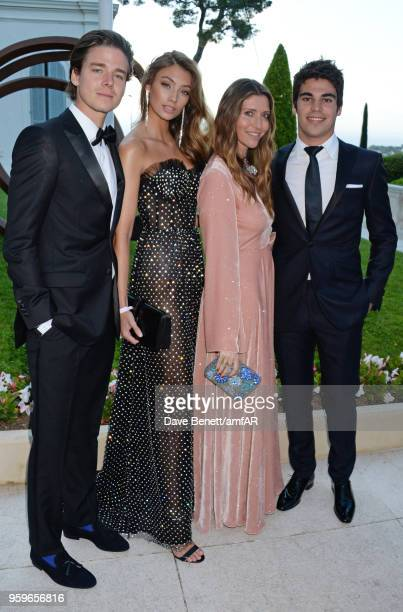 Lance Stroll arrives at the amfAR Gala Cannes 2018 at Hotel du CapEdenRoc on May 17 2018 in Cap d'Antibes France