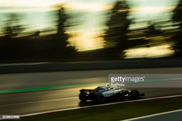 18 Lance Stroll from Canada with Williams F1 Mercedes FW41 during day four of F1 Winter Testing at Circuit de Catalunya on March 9 2018 in Montmelo...