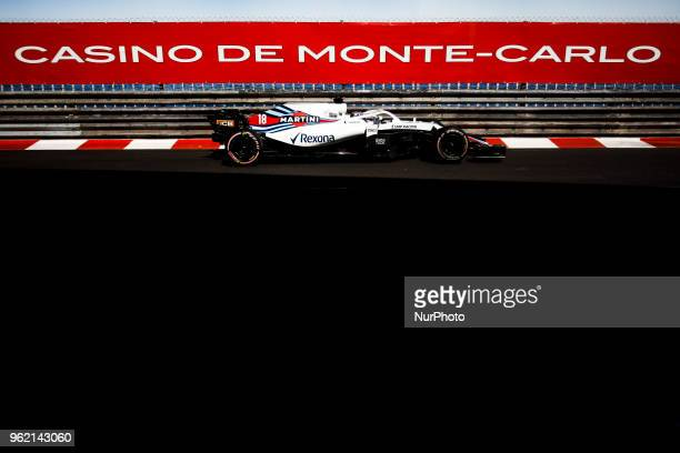 18 Lance Stroll from Canada with Williams F1 Mercedes FW41 during the Monaco Formula One Grand Prix at Monaco on 24th of May 2018 in Montecarlo Monaco