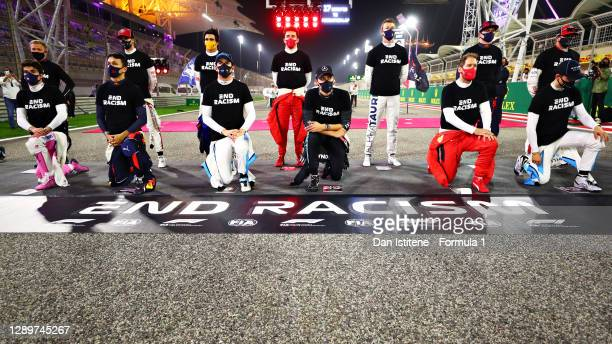 Lance Stroll of Canada and Racing Point, Alexander Albon of Thailand and Red Bull Racing, Nicholas Latifi of Canada and Williams, George Russell of...