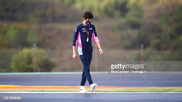Lance Stroll of Canada and Racing Point walks the track during previews ahead of the F1 Grand Prix of Portugal at Autodromo Internacional do Algarve...