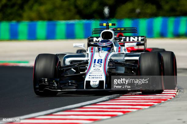 Lance Stroll of Canada and Williams during the Formula One Grand Prix of Hungary at Hungaroring on July 30 2017 in Budapest Hungary