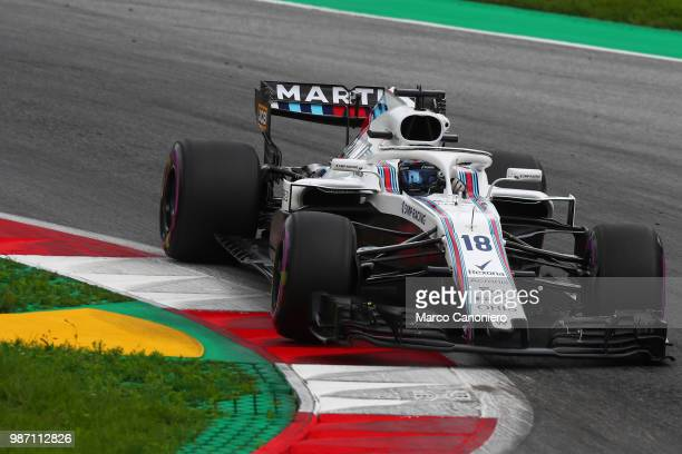 Lance Stroll of Canada and Williams Martini on track during practice for the Formula One Grand Prix of Austria