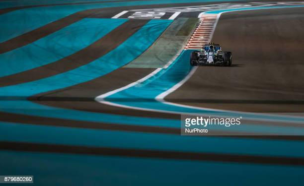 Lance Stroll of Canada and Williams Team driver goes during the race at Formula One Etihad Airways Abu Dhabi Grand Prix on Nov 26 2017 in Yas Marina...
