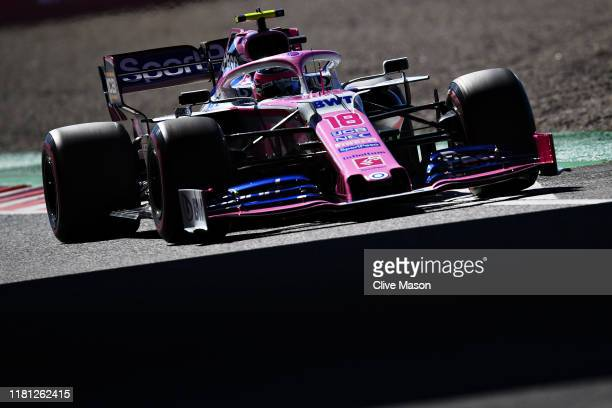 Lance Stroll of Canada driving the Racing Point RP19 Mercedes on track during qualifying for the F1 Grand Prix of Japan at Suzuka Circuit on October...