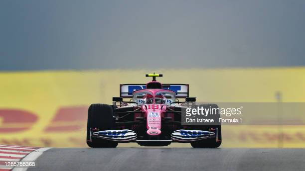 Lance Stroll of Canada driving the Racing Point RP20 Mercedes during the F1 Grand Prix of Turkey at Intercity Istanbul Park on November 15, 2020 in...
