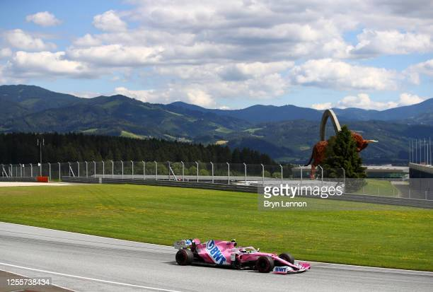 Lance Stroll of Canada driving the Racing Point RP20 Mercedes on track during the Formula One Grand Prix of Styria at Red Bull Ring on July 12, 2020...