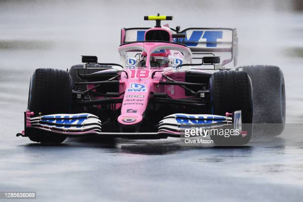 Lance Stroll of Canada driving the Racing Point RP20 Mercedes on track during qualifying ahead of the F1 Grand Prix of Turkey at Intercity Istanbul...