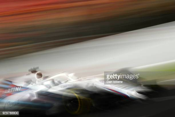 Lance Stroll of Canada driving the Williams Martini Racing FW41 Mercedes on track during day four of F1 Winter Testing at Circuit de Catalunya on...