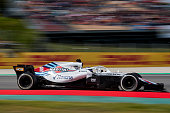 montmelo spain lance stroll canada driving