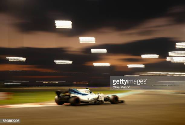 Lance Stroll of Canada driving the Williams Martini Racing Williams FW40 Mercedes on track during the Abu Dhabi Formula One Grand Prix at Yas Marina...