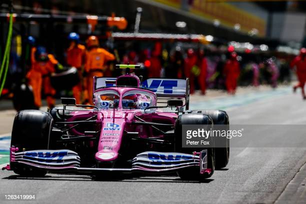 Lance Stroll of Racing Point and Canada during the F1 Grand Prix of Great Britain at Silverstone on August 02, 2020 in Northampton, England.