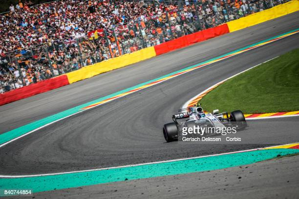 Lance Stroll of the Williams Martini Racing Team at Circuit de SpaFrancorchamps on August 27 2017 in Spa Belgium