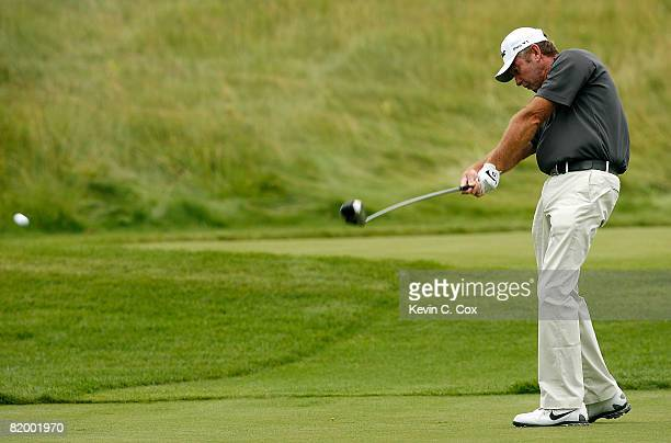 Lance Ten Broeck tees off the 12th hole during the second round of the 2008 3M Championship at TPC Twin Cities on Saturday July 19 2008 in Blaine...