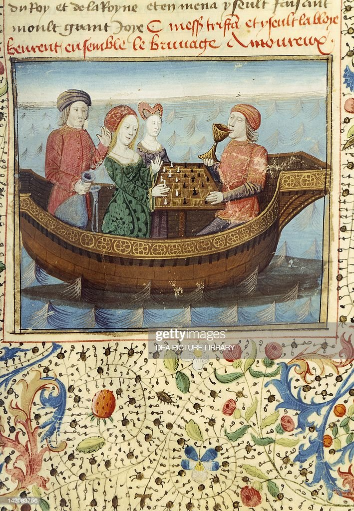 Lancelot and Guinevere playing chess : News Photo