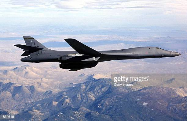 A B1B Lancer bomber is shown in this undated file photo A B1 Bomber similar to the one shown here has gone down in the Indian Ocean December 12 2001...
