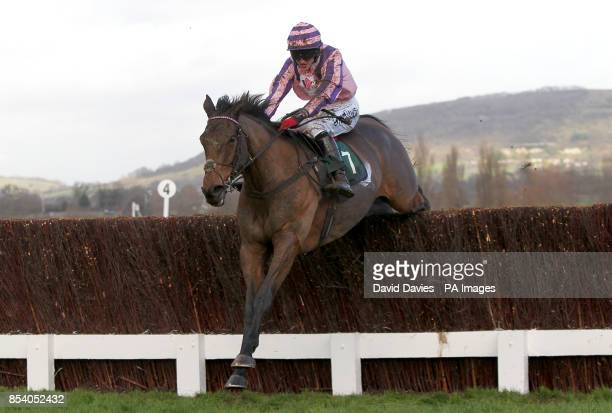 Lancetto ridden by jockey Conor Ring in action during The Jenny Mould Memorial Handicap Chace