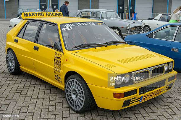 lancia delta hf integrale - rally car stock photos and pictures