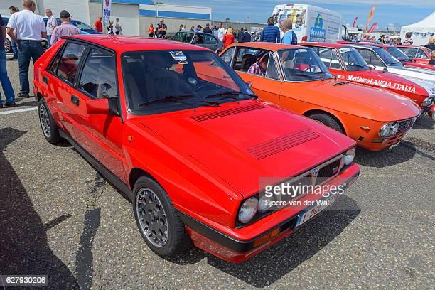 """lancia delta hf integrale four door 1980s hatchback - """"sjoerd van der wal"""" stock pictures, royalty-free photos & images"""