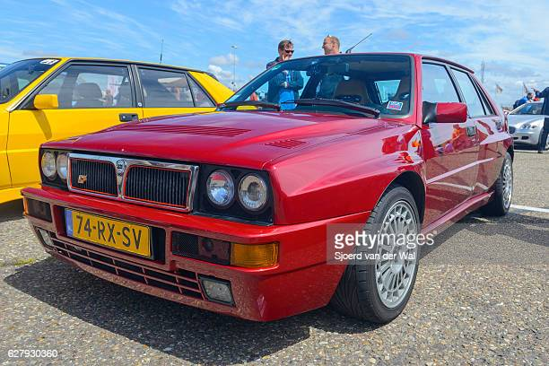 "lancia delta hf integrale four door 1980s hatchback - ""sjoerd van der wal"" stock pictures, royalty-free photos & images"