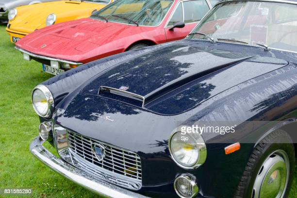 """lancia flaminia coupe italian classic italian coupe car - """"sjoerd van der wal"""" or """"sjo"""" stock pictures, royalty-free photos & images"""