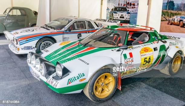 Lancia Stratos HF und Martini Racing Gruppe B Lancia 037 Rallye-Autos