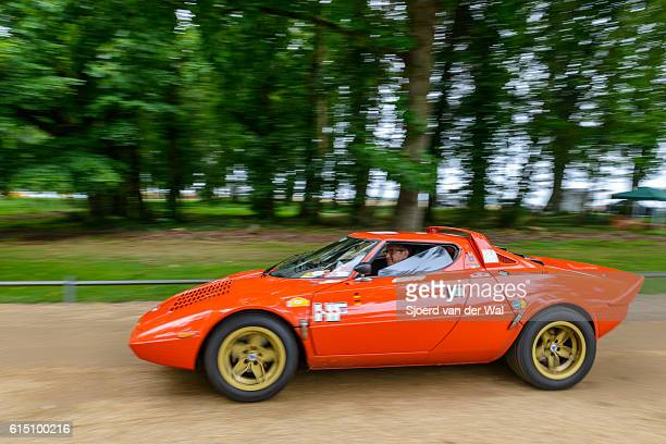 """lancia stratos hf classic 1970s rally car - """"sjoerd van der wal"""" stock pictures, royalty-free photos & images"""