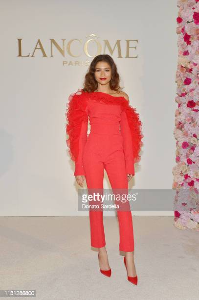 Lancôme announces Zendaya as New Global Brand Ambassadress at Four Seasons Los Angeles at Beverly Hills on February 21 2019 in Los Angeles California