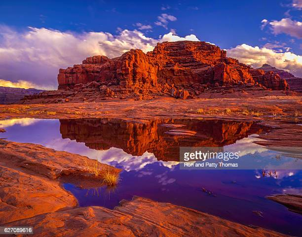 blm land looking at dead horse point state park, utah - canyon foto e immagini stock