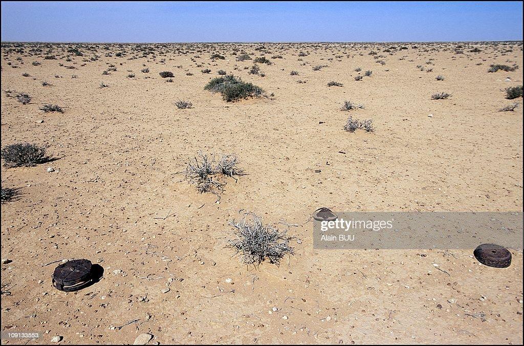 Land Mines Still Kill In Bir-Hakeim On January 2Nd, 2002 In Bir Hakeim, Libya. : News Photo
