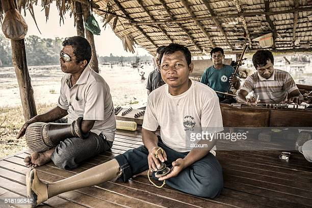 land mines victims in agkor cambodia - land mine stock photos and pictures