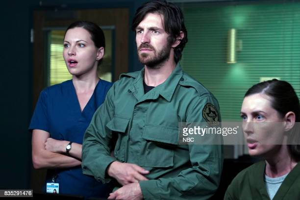 SHIFT 'Land Of The free' Episode 409 Pictured Jill Flint as Jordan Alexander Eoin Macken as TC Callahan Sarah Hagan as CT Tech Althea