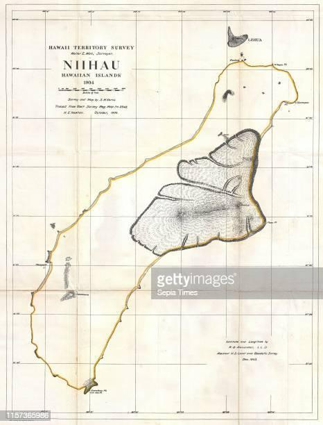 1904 Land Office Map of Niihau Hawaii