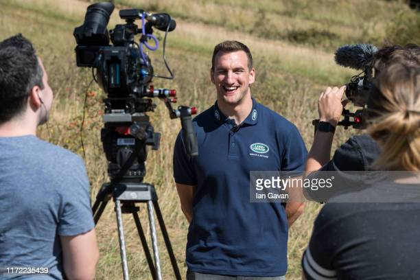 Land Rover ambassador Sam Warburton interviewed during an event for Rugby World Cup 2019 Worldwide Partner, Land Rover at the Land Rover Experience...