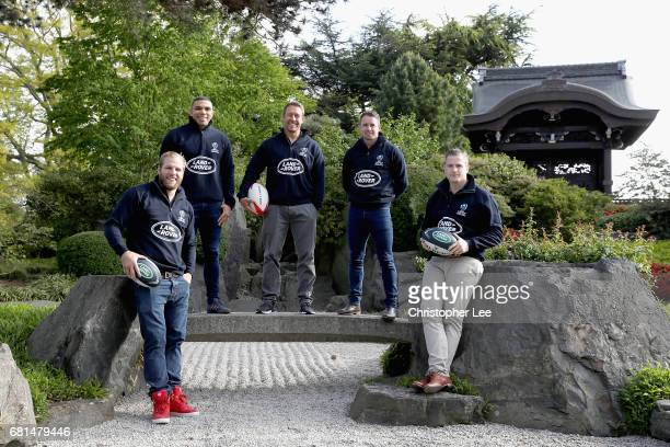 Land Rover Ambassador's James Haskell Brian Habana Jonny Wilkinson Shane Williams and Jamie Heaslip pose for the camera at the Japanese Gate Garden...
