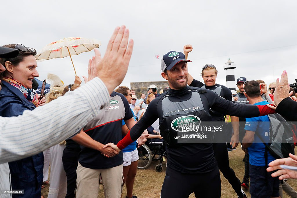 Land Rover BAR skippered by Ben Ainslie celebrates winning The 35th America's Cup Louis Vuitton World Series on July 24, 2016 in Portsmouth, United Kingdom.