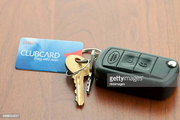 Land Rover Car Keys and Tesco Clubcard